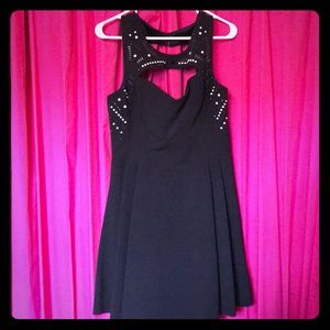 Express black mini formal dress with detail